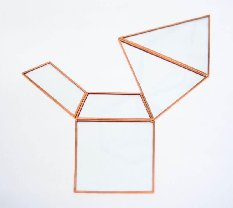 Pyramiden Layout geometrisches Terrarium