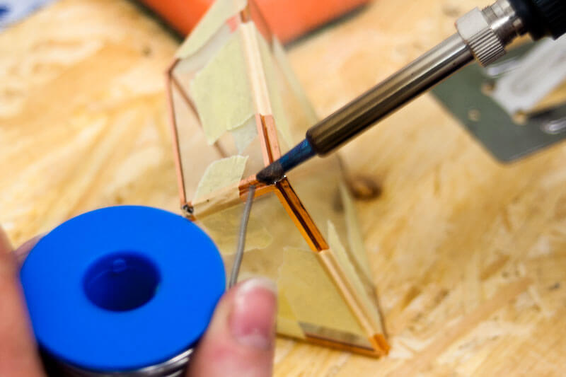 Punktlöten Tiffany Glaskunst Löttechnik