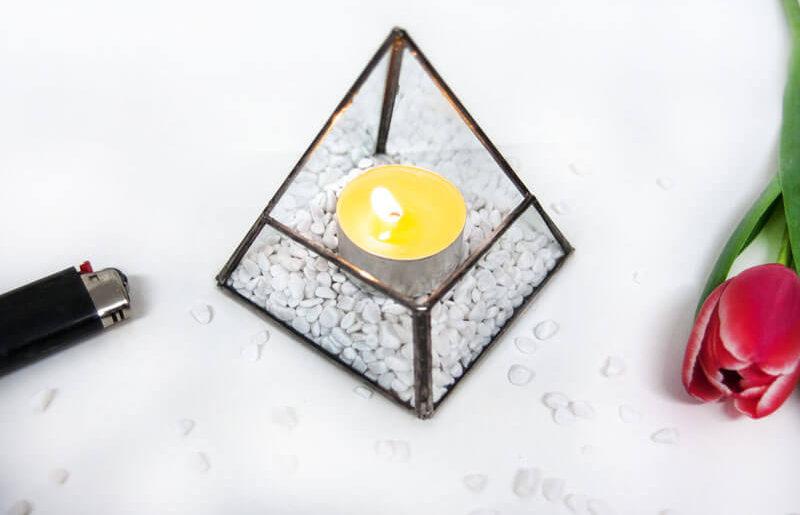 {DIY} Geometrisches Terrarium als Teelichthalter selber bauen