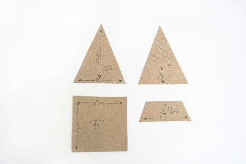 Schablone für geometrisches Terrarium