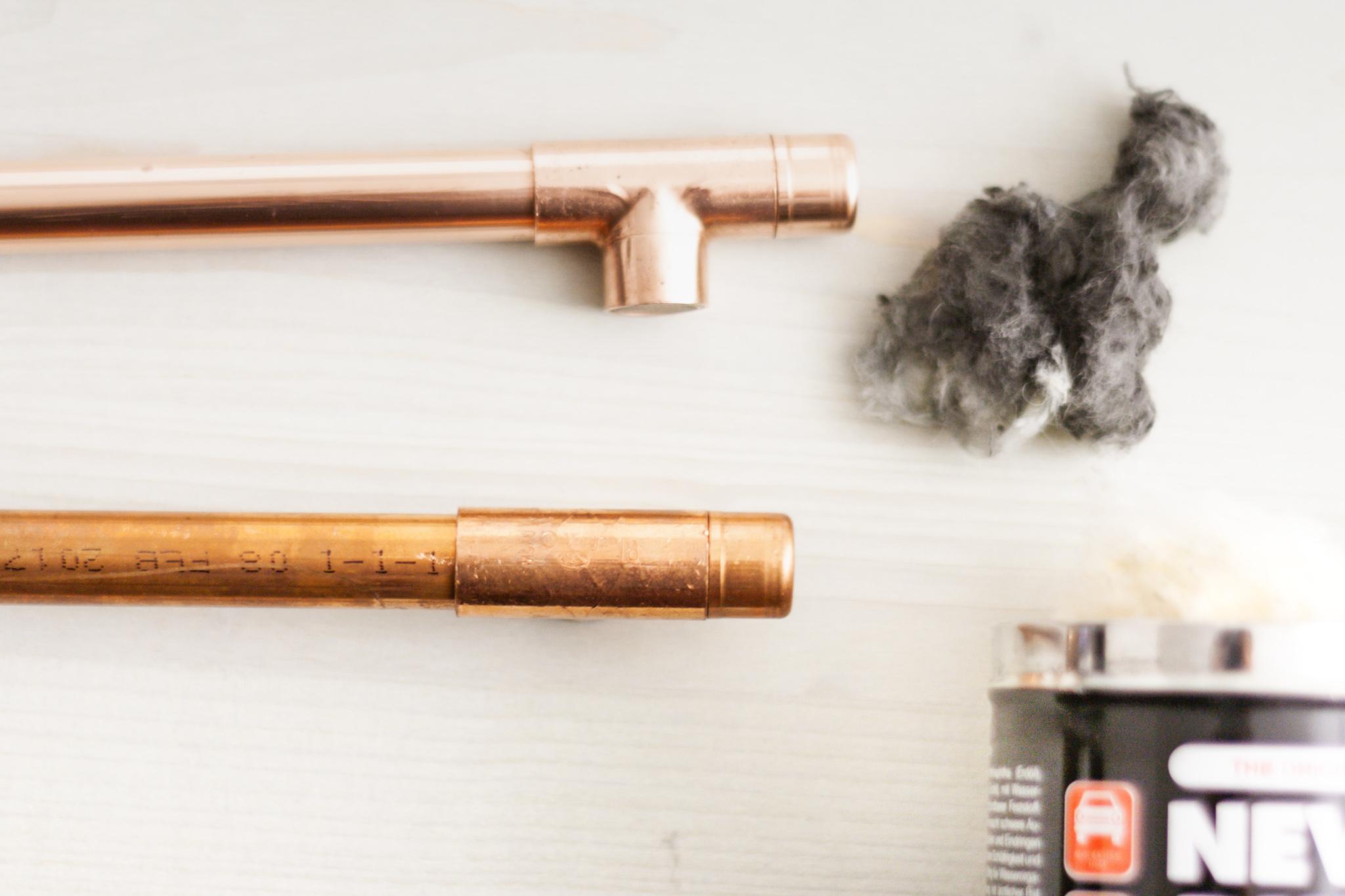 Kupfer Möbelgriffe selber machen aus Kupferrohr. Kupferrohr DIY, DIY Kupferrohr, Möbel Upcycling, Ikea Hack, Ikea Hemnes Kommode umgestalten, Möbel selber bauen, kostenlose Anleitung, Step by Step